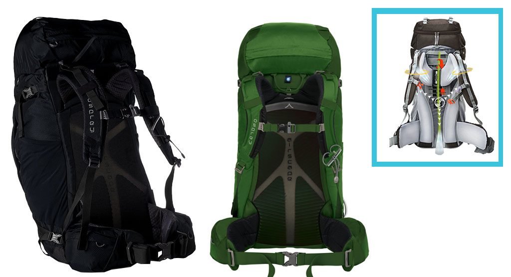 mochila de camping marco interno