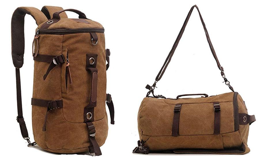 bolso mochila de lona