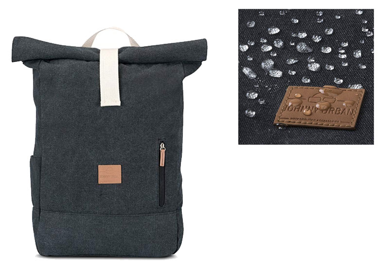mochila de lona ampliable