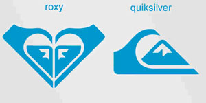 Logo Roxy y Quicksilver